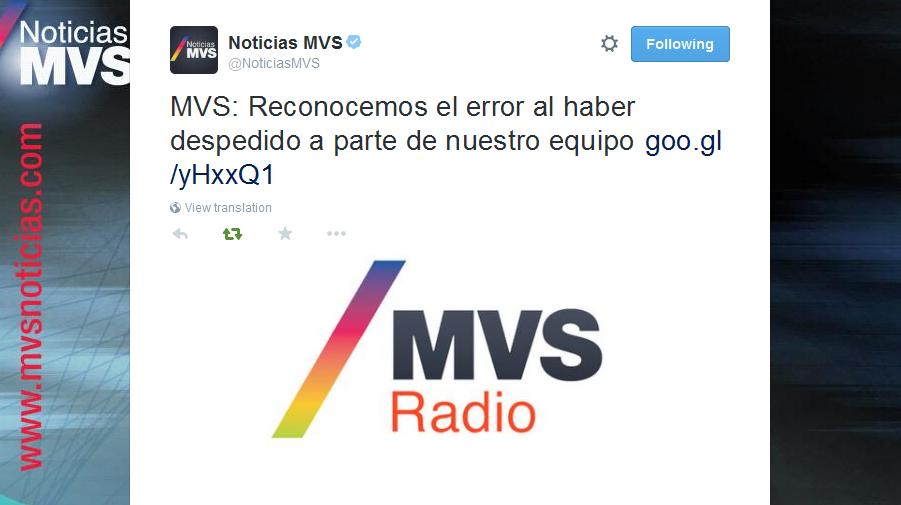 Anonymus hackea página de MVS #EnDefensadeAristegui