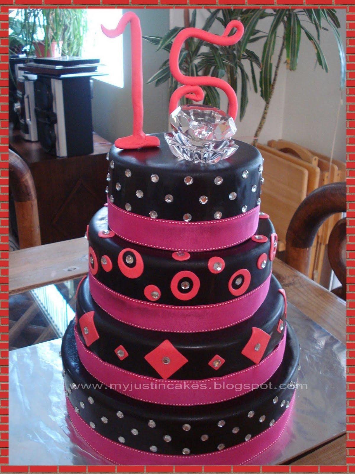 quinceanera zebra cakes