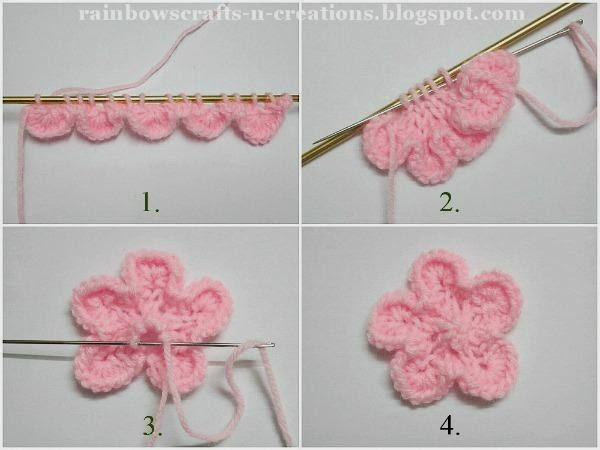 Rainbow's Crafts And Creations Knitted Flowers Delectable Free Knitted Flower Patterns