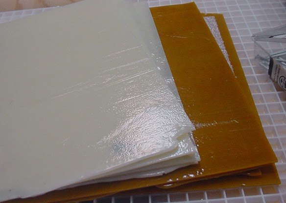 deborhread fused glass blanks step 1 cutting the