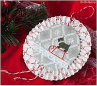 скрап новогодний, новогодний альтер, скрап подвеска, подвеска новогодняя скрап и вышивка