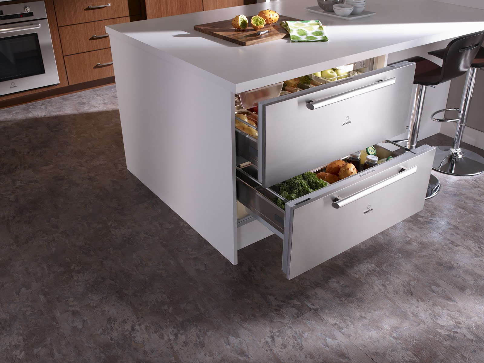 Kitchens with Refrigerator Drawers