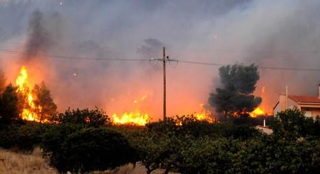 Στις φλόγες σπίτια στον Διόνυσο Κερατέας!