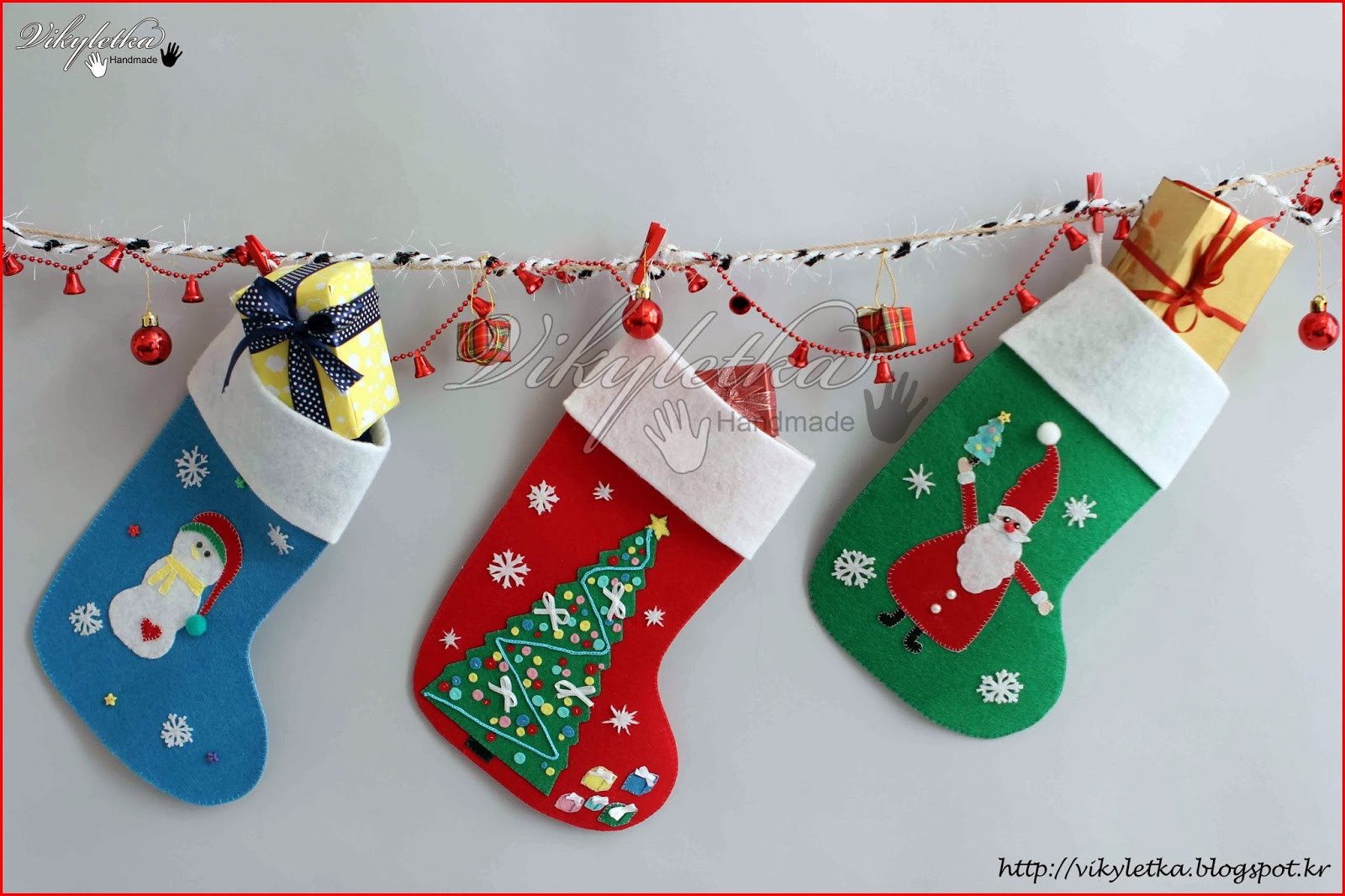 Новогодние сапожки для подарков своими руками фото 98