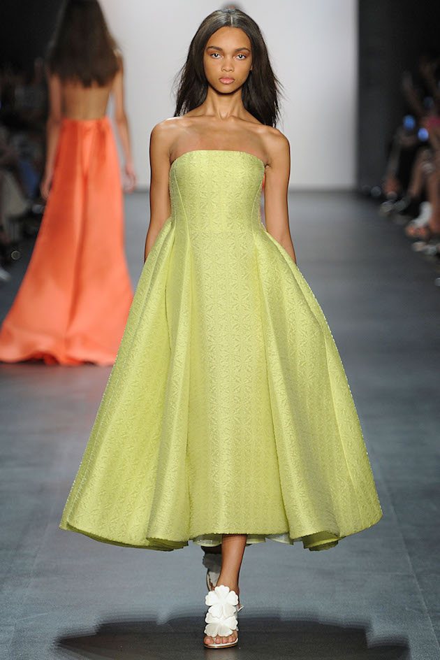 Angel Sanchez Spring 2016 citrus Gown