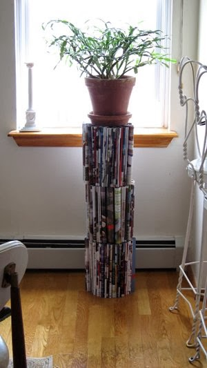 Diy come riciclare giornali e riviste 7 tutorial for Giornali arredamento casa