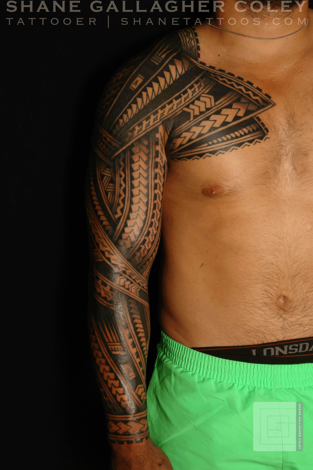 maori polynesian tattoo polynesian sleeve chest tatautattoo