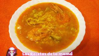 Receta de arroz caldoso de pescado