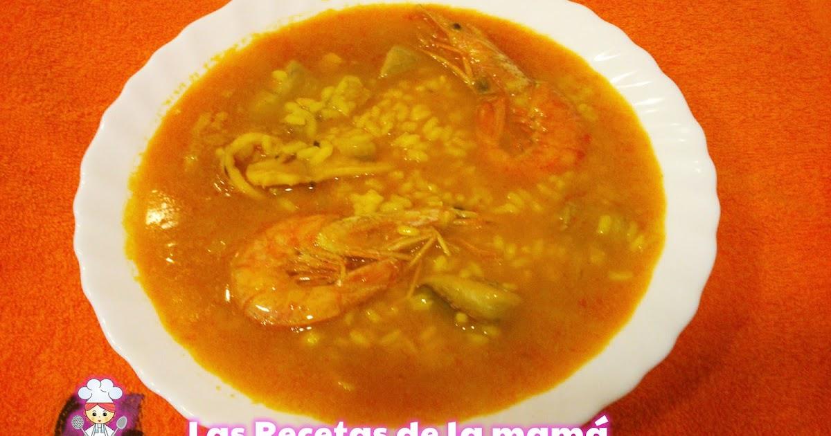 Las recetas de la mam receta de arroz caldoso de marisco - Superchef cf100 ...
