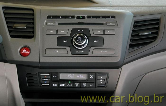 Novo Honda Civic 2012 no Brasil fotos e detalhes técnicos