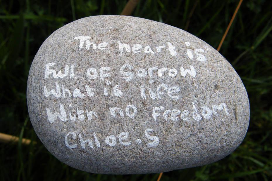 kamień dekoracja diy cytaty eco manufaktura