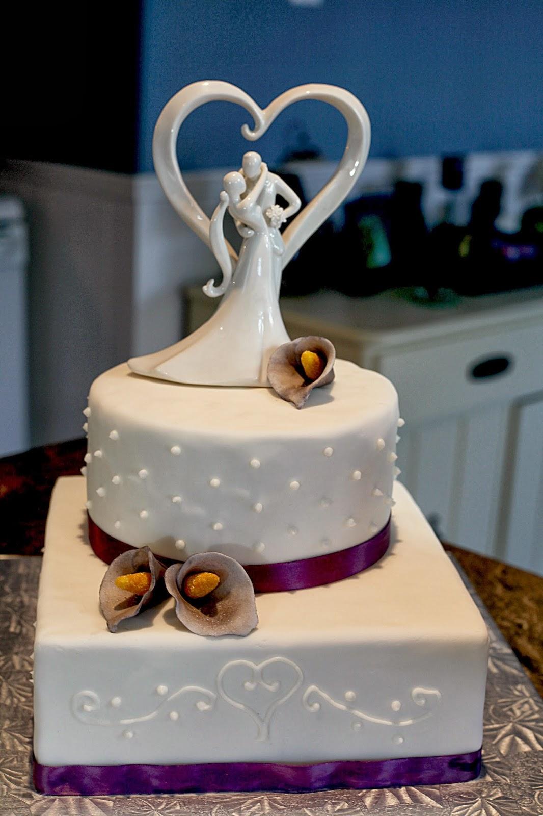 Second Generation Cake Design Purple Calla Lily Wedding Cake - Calla Lilly Wedding Cake