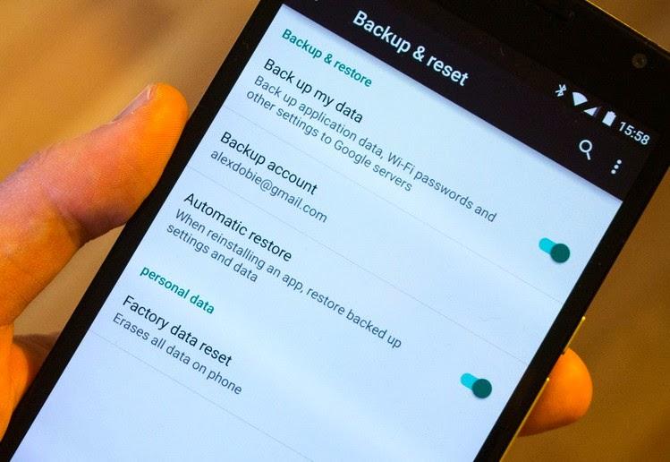 Cara Factory Reset Nexus 6