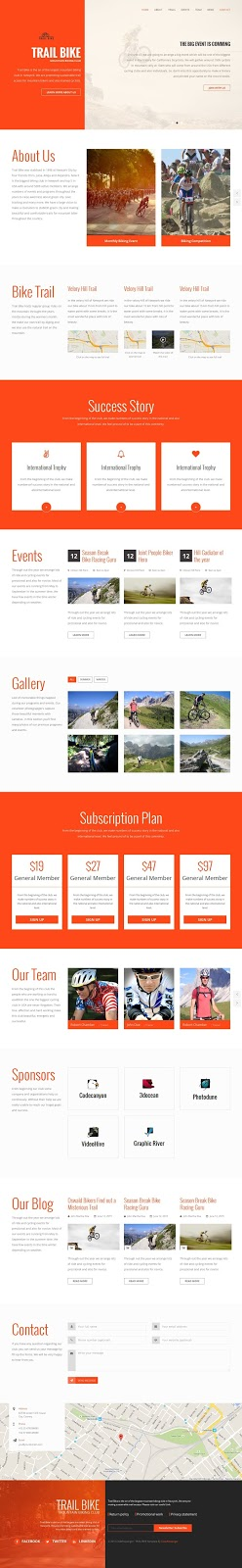 Mountain Biking Club Website Template