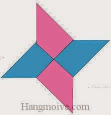 Bước 10: Hoàn thành cách xếp phi tiêu Ninja bằng giấy origami đơn giản.