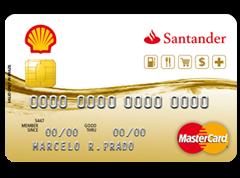 Cartão de crédito nacional Shell Santander Mastercard