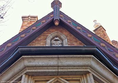 Mr. Toad's Wild Ride Disneyland exterior statue rooftop