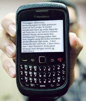 Taktik Baru SMS Sindiket Pelacuran
