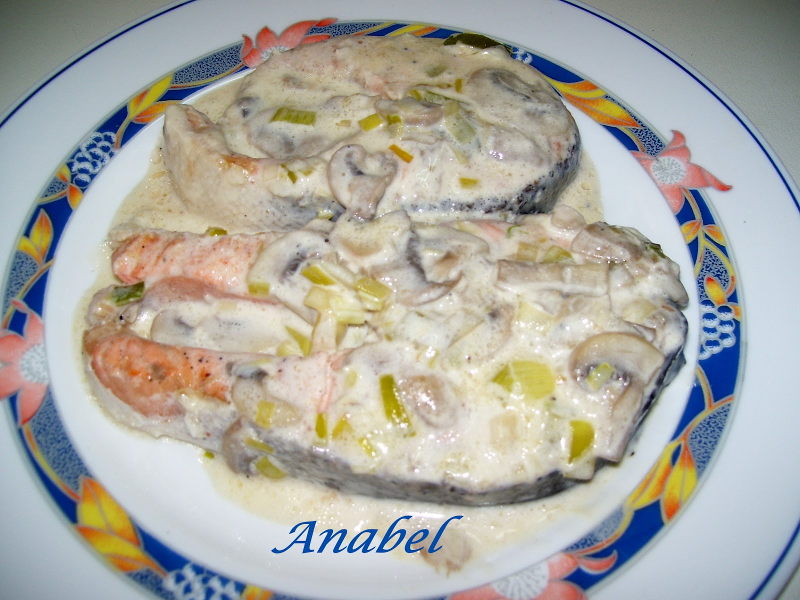 Un poco de todo salm n cremoso con champi ones - Salmon con champinones ...