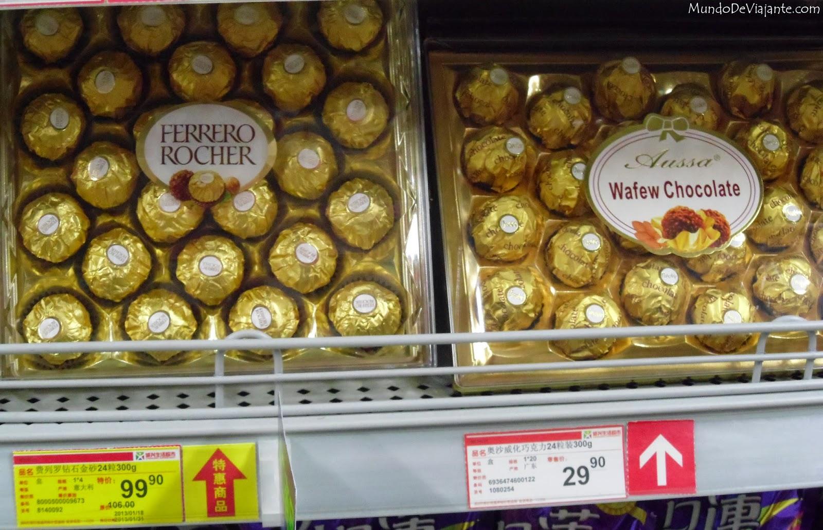 Chocolates dados de presente no Ano Novo Chines