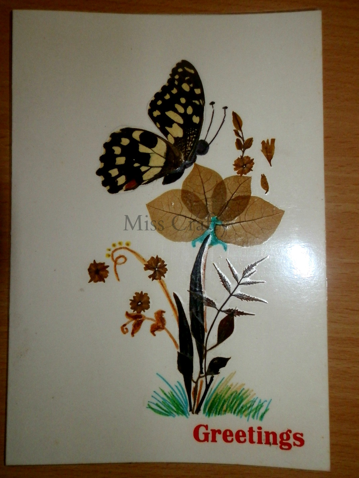 The craft gallery pressed flowers greeting cards part 1 for Dried flowers for crafts