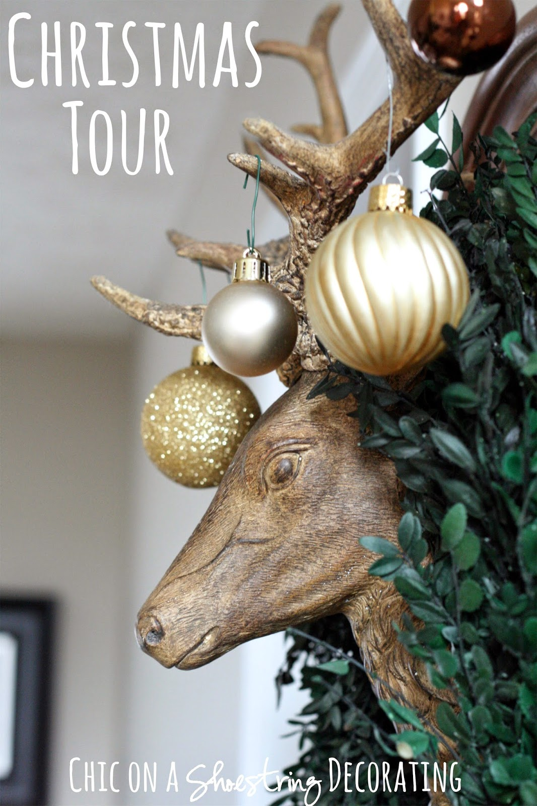Chic on a Shoestring Decorating Christmas decor