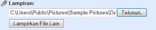 memasukan lampiran pesan email