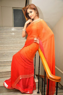 Actress Sony Charishta  Pictures in Saree at Naakaithe Nachindi Audio Launch Function  0103
