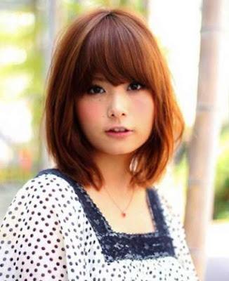 model rambut bob lower wanita jepang