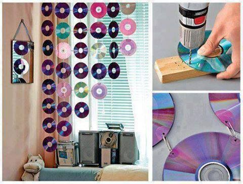 Now you know what to do with all those old CDs  Use them to make a cool  effect for your room window. Daily City Girl   Fashion Blog  Back To School  Ideal Rooms For