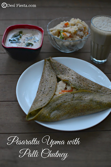 Andhra dosa and chutney
