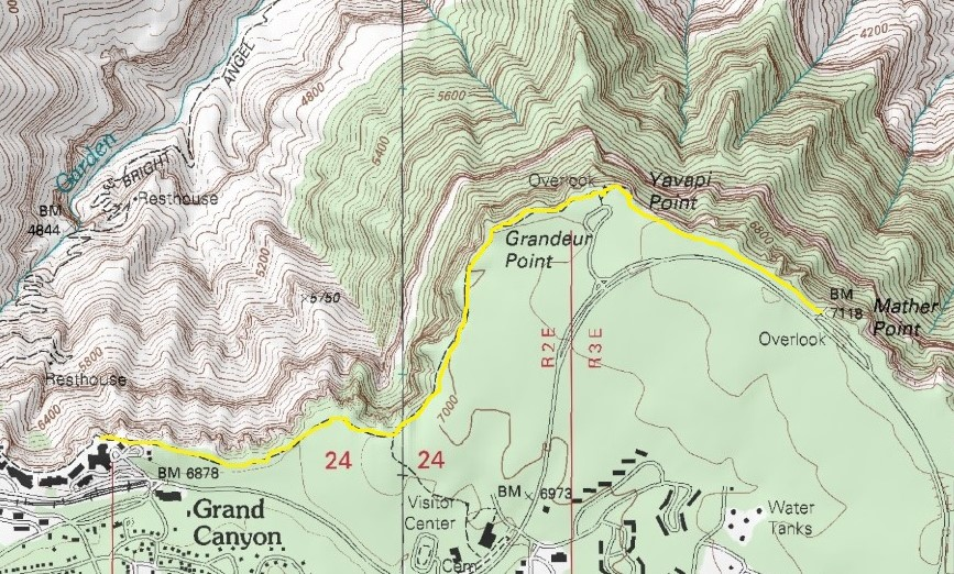 Day Hiking Trails Classic Grand Canyon sights an easy walk