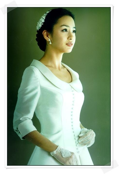 wedding dress korean actress