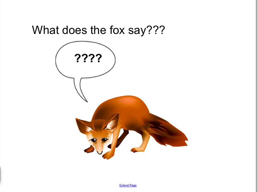 What does the fox say tumblr