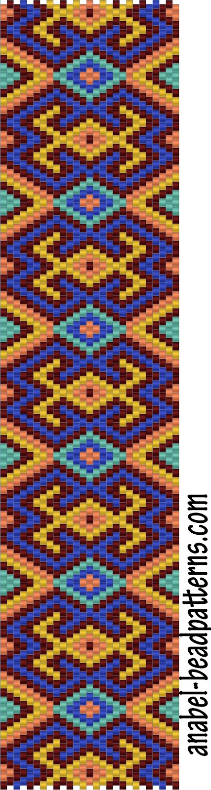 схема бисероплетение мозаика