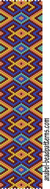 схема бисероплетение мозаика браслет free peyote pattern