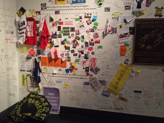The space for the 100th object at Disobedient Objects