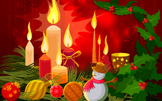 christmas candles and candies wallpaper