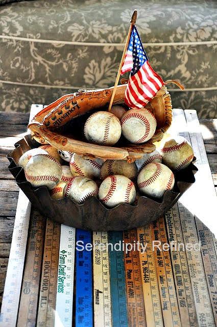 "Serendipity Refined: EASY DIY: Patriotic ""No Sew"" Stenciled Burlap"