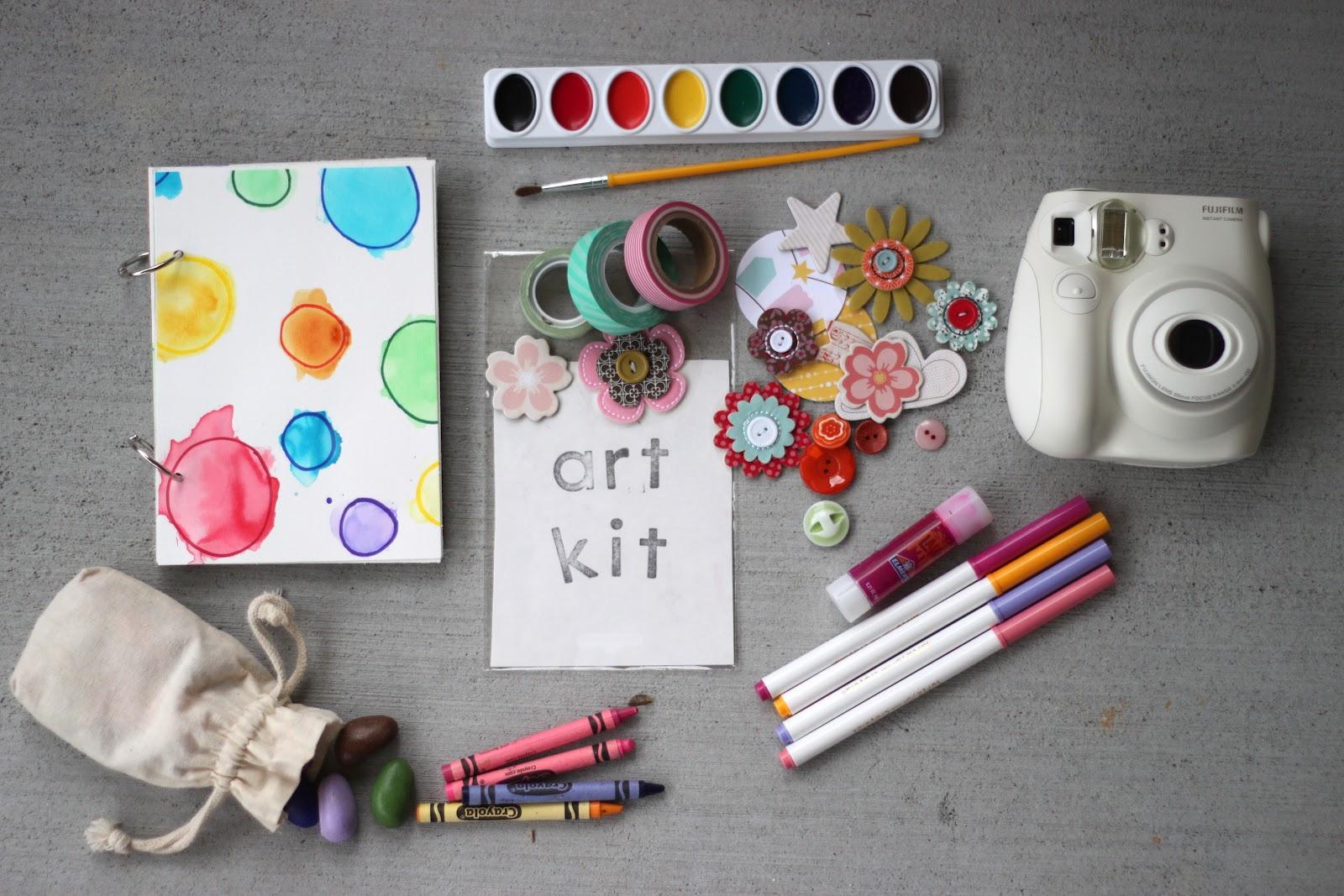 Kids travel art kit
