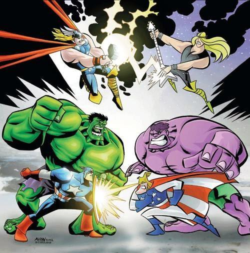 Justice friends versus Avengers