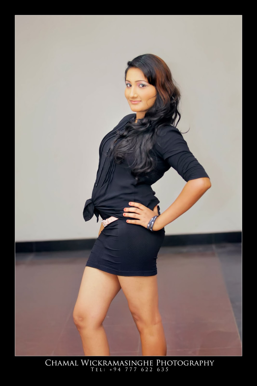 Madushani Rajapaksha sexy short dress