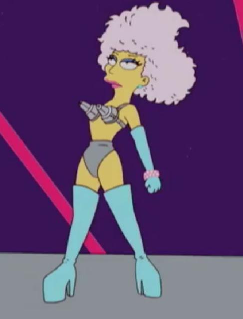 lady gaga simpsons costume