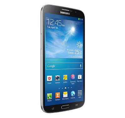 samsung galaxy mega pure black 6.3-inches smartphone front displayview