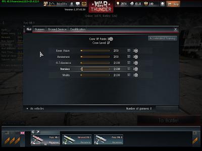 War Thunder - Crew 1 Pilot Stats