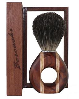 Pędzel do golenia w pudełku - palisander + jesion