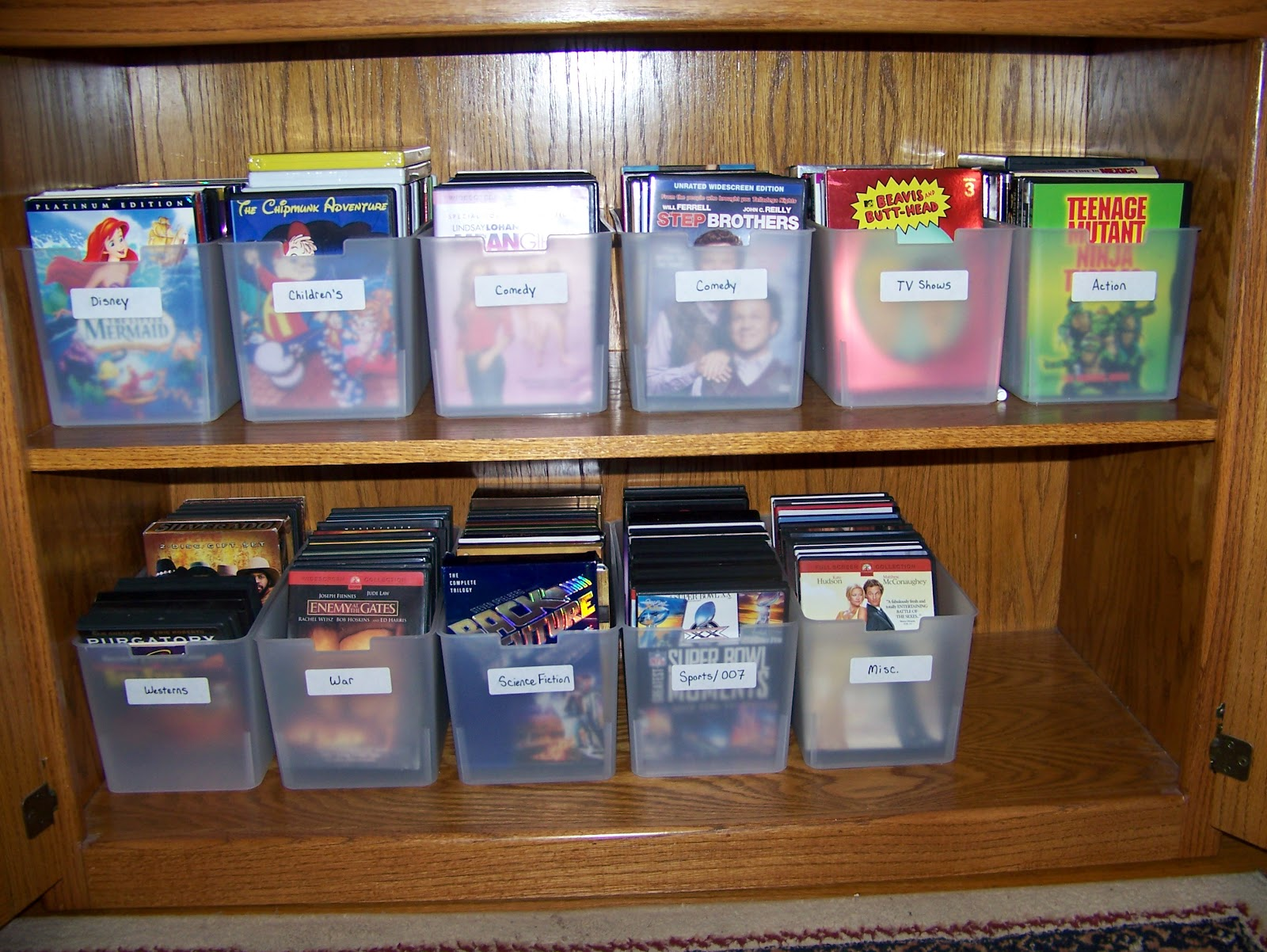 Making Cooley Stuff Dvd Cabinet Organization