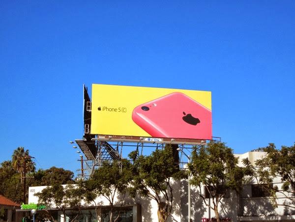 Pink iPhone 5c wave 2 billboard