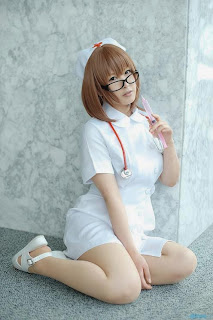 Nurse cosplay by Narihara Riku