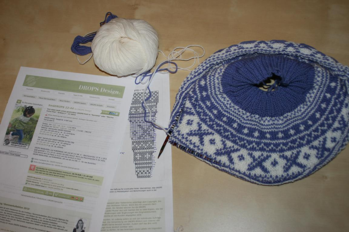 norweger pullover strickanleitung drops